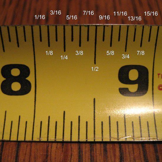 how to read a tape measure mighty guide. Black Bedroom Furniture Sets. Home Design Ideas